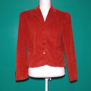 Burnt orange 80's vintage blazer